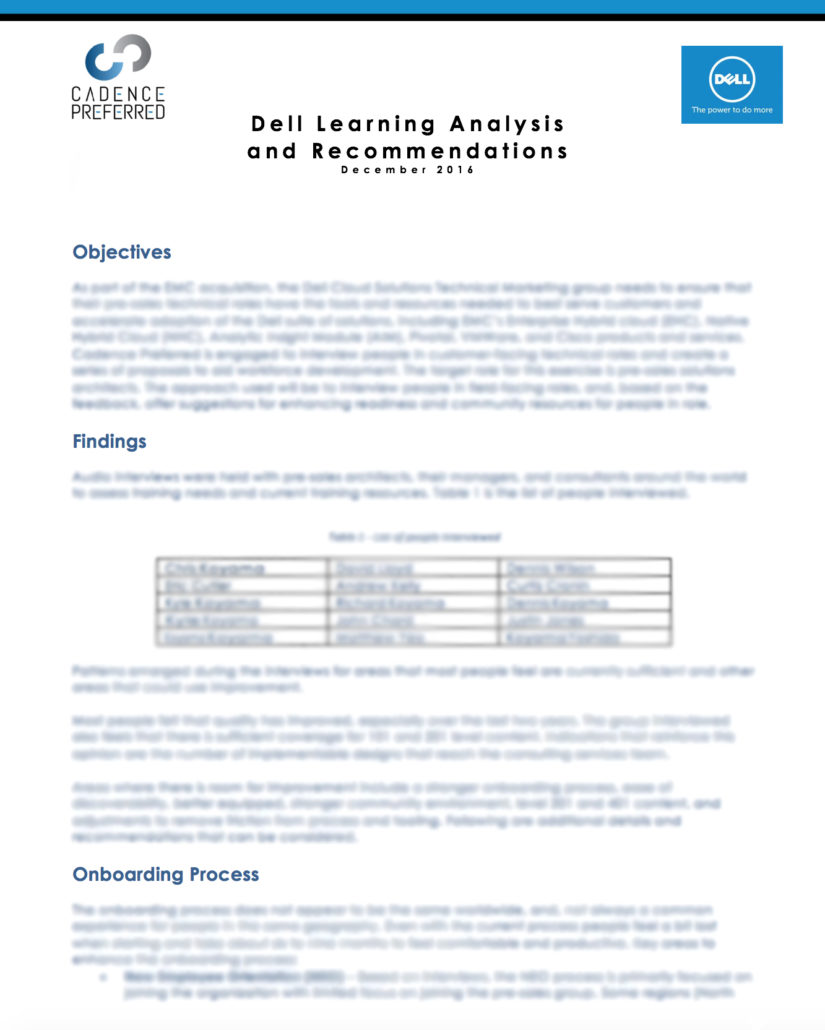 results of Dell collateral audit